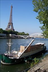 These barges line the river banks of Paris, I think they are really cool: by crowie, Views[245]