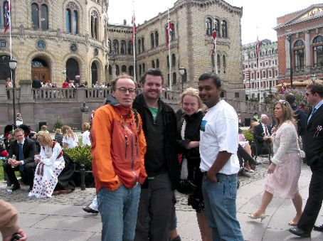 National Norway Day, National Theatre Plaza - Simon, Chris, Linda and Gopi