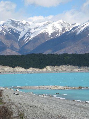 Crazy blue colour of Lake Pukaki