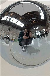 selfie @ a secret contemporary art exhibition in Venice, Italy: by curiousme, Views[116]