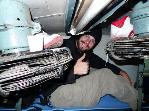 zug in indien - schlafabteil - sehr gemütlich