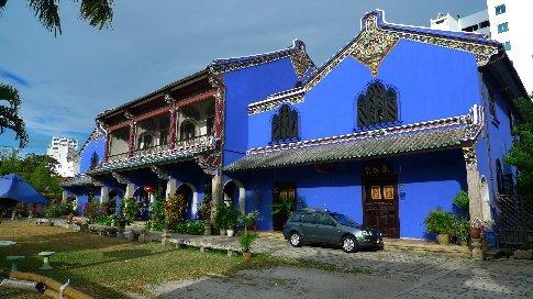 penang - georgetown - diese hütte hat 2000 einen unesco preis für das besterhaltenste gebäude erhalten. cooler kolinial-orientalischer mix.