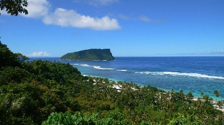 View on Lalomanu village, where I spend heaps of time