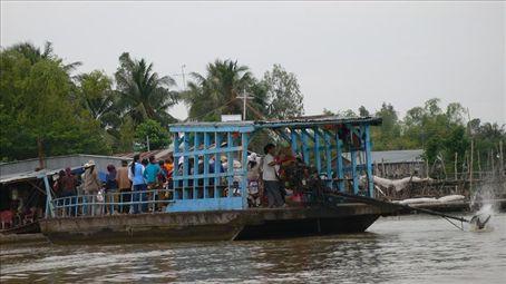 Transportation at Mekong Delta