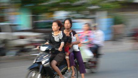 On the road in Phnom Penh