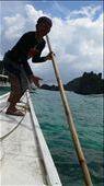 Our lifeguard. - El nido, Palawan, Philippines: by daan, Views[319]