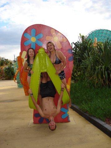 Waterworld fun with Freja and Laura!