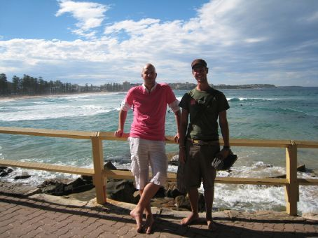 Bram and me at Manly Beach, Sydney