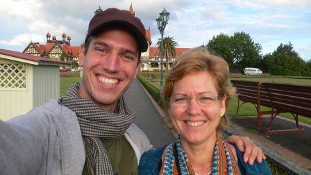 Me and my mom in Rotorua