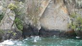 Maori carvings, Lake Taupo: by daan, Views[344]