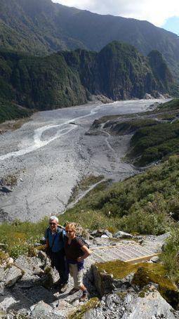 Hiking around the Fox Glacier