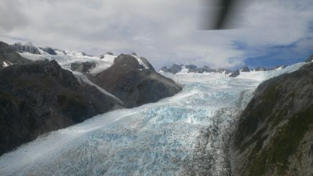 St. Joseph Glacier view from helicopter