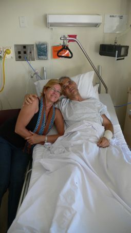 Mom and dad in the Christchurch hospital