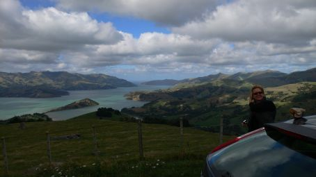 Akaroa (2 hours west of Christchurch) on a day trip with my mom