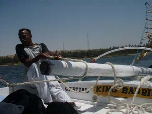 Captain Mustaffa and our Felucca