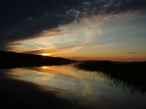 Lake Saimaa from the shore at Saimaanharju