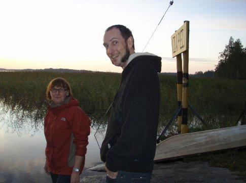 Dan & Ulla by Lake Saimaa