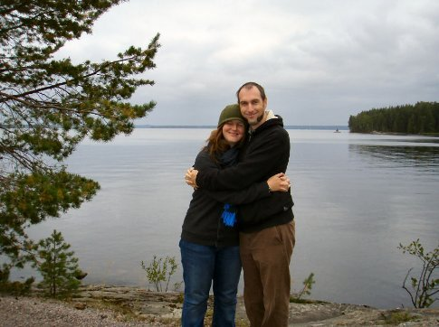 Standing in front of Lake Saimaa in Kylaniemi (it's a big lake)