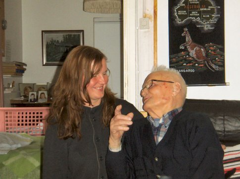 Stef & her grandfather, in Puumela