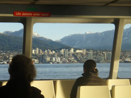 On the Seabus approaching North Vancouver