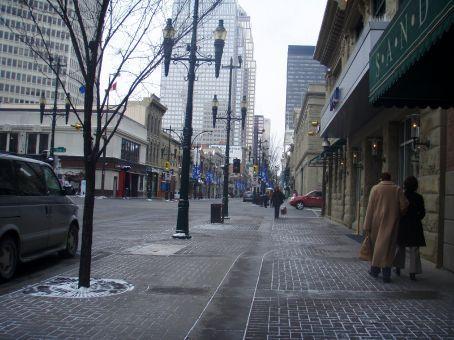 Stephen Ave in Calgary