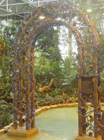 Archway in the Devonian Garden.  It is one of the worlds largest indoor parks, and has more than 20000 plants representing more than 135 varieties of flora.