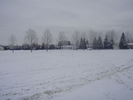 Soccer field near John and Sue's place after a night of snowfall