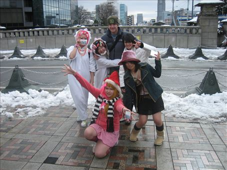 Dan-san and the Cos-play Harajuku girls.