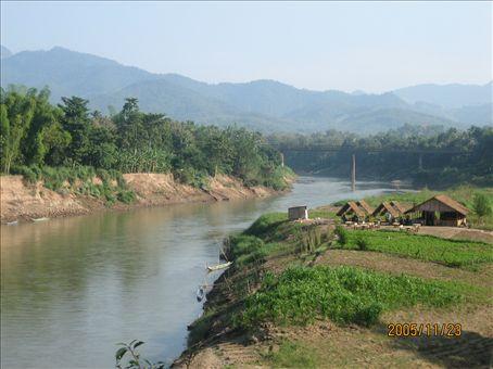 The Mekong river, winding it's way.