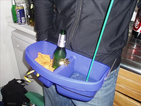 How handy is that - drink and food in one!