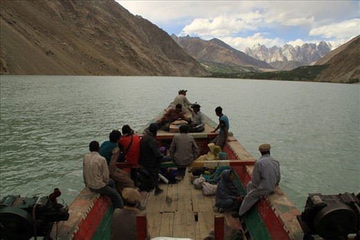 Tired on the long journey. Locals of the affected villages are bound to use boats, the only  mode of transport to their villages which is unsafe and cold over the lake.