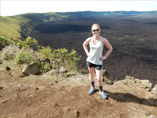 We hiked up and half way around this volcano crater. It's 12 miles across and last blew in 2002. The guide said he was in his car at the time and it made the car jump.