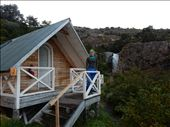 The cabin we had at Los Cuernos was really great. It had a much needed wood stove to dry our clothes and a sky light to look at the stars. : by danidawnandstevo, Views[173]