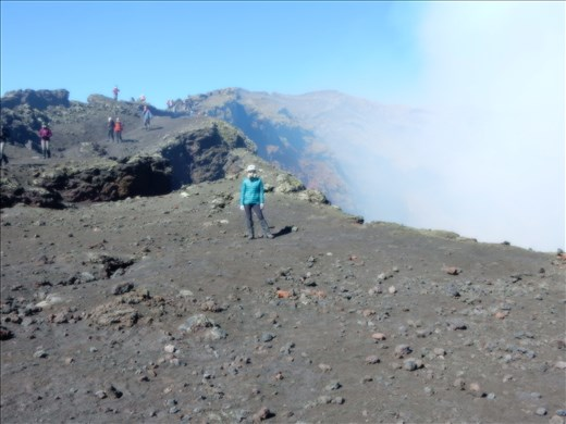 Loving the flexibility of the South American government allowing us such close access to the crater.