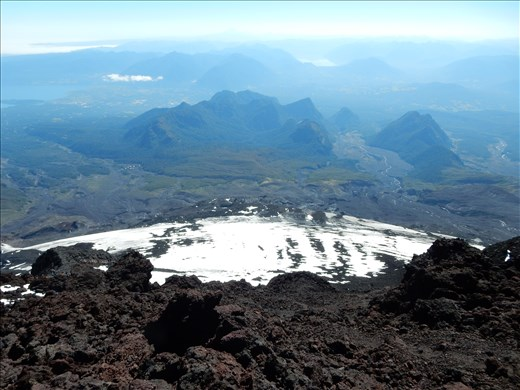 Great view of Pucon from the rim of the crater.