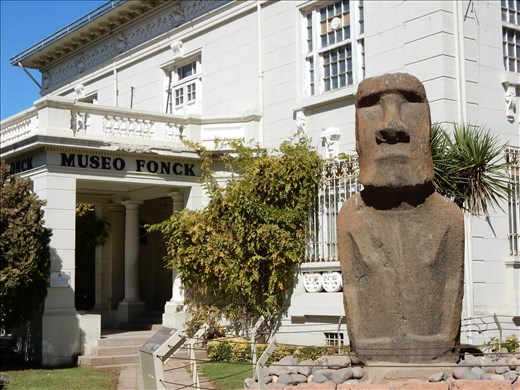 Since leaving Easter Island we never thought we would see another one of these again until we found out the the museum in Vina del Mar had one. There are other original Moai artifacts scattered around the world including the head of a Moai at a park in Glendale California. Apparently that one was obtained in a legal transaction between the founder of the park and Rapanui fisherman who were using it as a ballast for the boat.