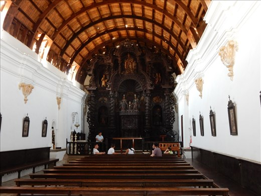 The church suffered some serious damage to the roof from a earthquake in 2007. Its now made of wood instead of brick.
