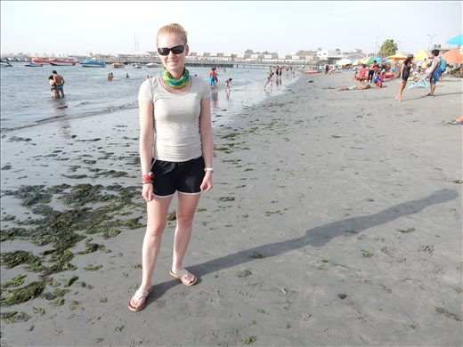 We spent the night in a fishing town called Paracas. Being the beach snobs that we are we didn't go into the water. It was very cold and full of seaweed.