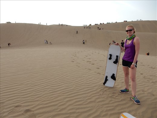 Sandboarding the dunes was lots of fun.