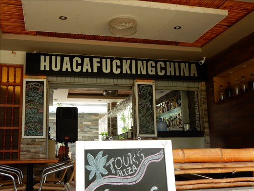 Name of a bar in Huacachina.