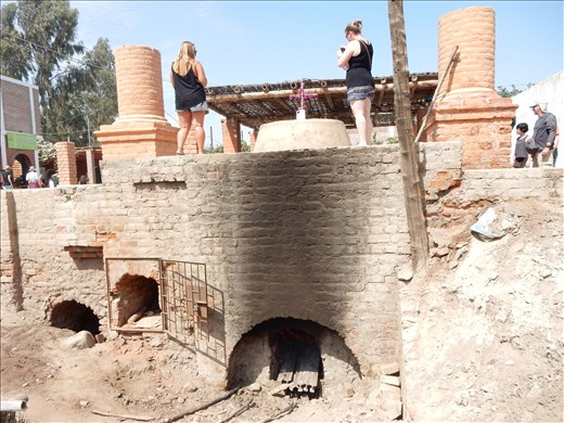 To ferment the pisco it was poured into a giant vat, sealed with plaster then boiled using a wood oven.