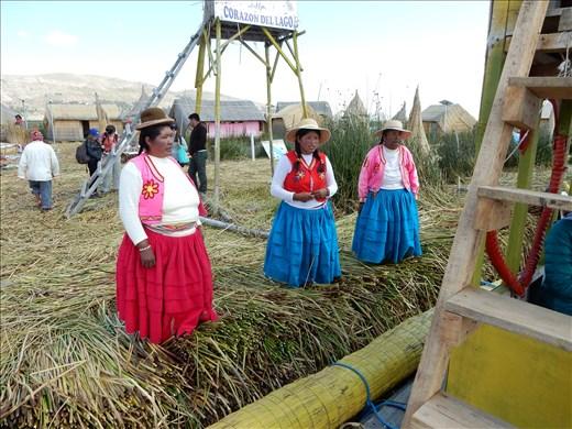 We were greeted by members of the Uru people.
