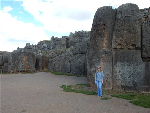Toured the Inca ancient walled complex Sacsayhuaman in Cusco. Still left wondering how they moved and shaped these giant rocks.