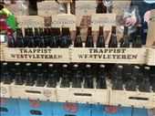 Found a beer store that sold the holy grail of beers, the Westvleteren 12  aka the Westy 12. This Trappist beer brewed by monks is considered the best beer in the world and can only be obtained by calling their beer hotline and reserving one case. You must drive to the town of Ypres, then after presenting appropriate iD and vehicle licence plate you can pick it up. Beer store was selling one bottle for $15 euro. This beer is so cool it doesn't even have a label. : by danidawnandstevo, Views[156]