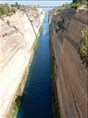 Corinth Canal reduced the distance between the ports of the Aegean and Adriatic Sea by 131 nautical miles. : by danidawnandstevo, Views[213]