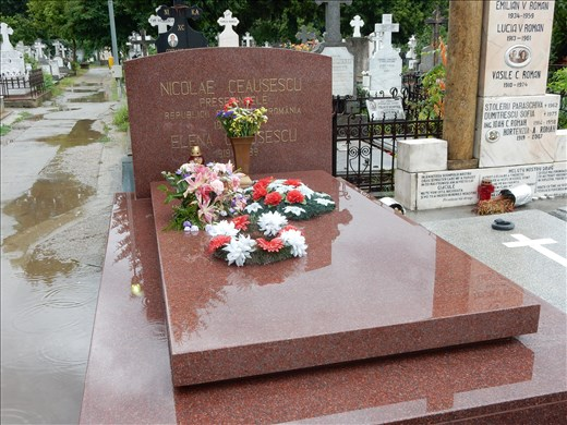 We were surprised to see flowers on their grave site. The bodies were exhumed in 2010 for DNA testing to prove to conspiracy theorists they were dead.