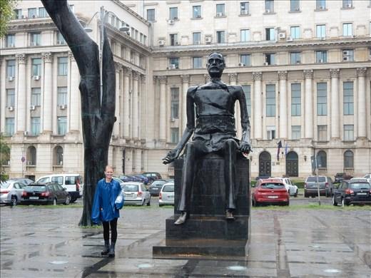 Statue of Iuliu Maniu former Prime Minister of Romania also known as Broken Man.