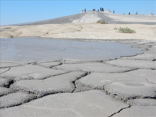 Berca Mud Volcanos (Vulcanii Noroiosi) in Buzau Romania.