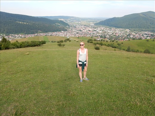 Hiked almost to the top of a hill in a little town called Gura Humorului until a pack of dogs herding sheep spotted us.