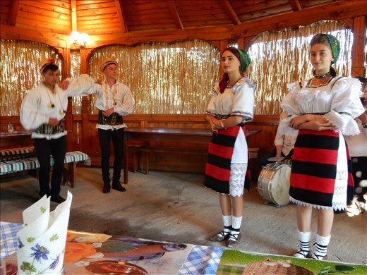 Attended a traditional Romanian dance and feast and of course plenty of plum brandy.